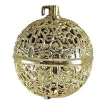 "VINTAGE STYLE GOLD B/O 3"" FILIGREE BALL CHIRPING BIRD HOLIDAY CHRISTMAS ... - $9.88"