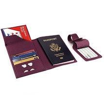 Otto Angelino Real Leather Passport Wallet - RFID Blocking with Ticket S... - $40.51
