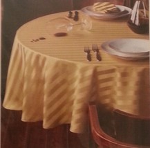 """Target Classic Home Gold Stripes 70"""" Round Tablecloth Stain Resistant NEW  - €14,11 EUR"""