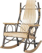 Amish USA Porch Rockers Handcrafted 9 Slat Oak and Hickory Armchair Set ... - $622.30