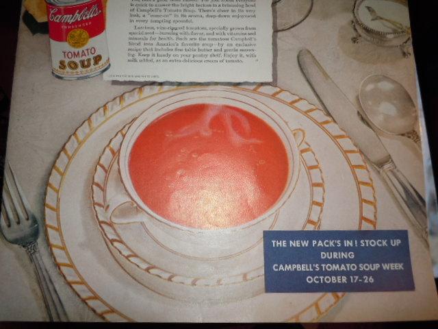 Vintage Campbell's Soup Week October 17-26  Print Magazine Advertisement 1946 image 3