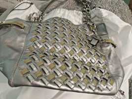 New with Tags COACH Ltd Edition Peyton Woven Tote Handbag Silver Cards D... - $400.00
