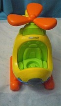 Fisher Price Little People Helicopter Yellow Spin N Fly Sound Rare Versi... - $16.58