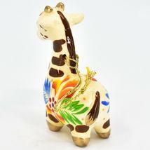 Handcrafted Painted Ceramic White Giraffe Confetti Ornament Made in Peru image 3