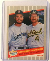 1989 Fleer Hot Corner's-Hot Hitters Wade Boggs Carney Lansford #633 Red ... - $0.48