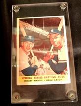 World Series batting foes # 418 Mickey Mantle, Hank Aaron AA 19-BTC4002 Vintage
