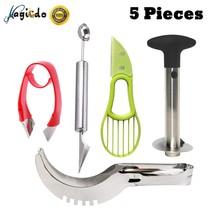 Magicdo Fruit Slicers Set of 5 - Pineapple Corer Slicer, Watermelon Slic... - €21,01 EUR
