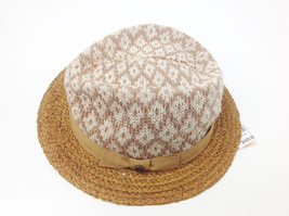 $125 Raffaello Bettini Bloomingdales Straw Hat Natural Brown Size Large Italy - $48.51