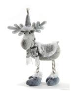 "Grey Standing Moose Table Decor Christmas Polyester 14"" Tall - $39.99"