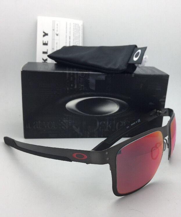 1a80edad749 Polarized OAKLEY Sunglasses HOLBROOK METAL OO4123-05 Gunmetal w  Torch  Iridium