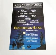 Diana Rigg Rex Harrison Heartbreak House Palace Hand Bill Ad 8 to 12 Feb... - $24.70