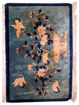 Hand made antique Art Deco Chinese rug 2' x 3' ( 62cm x 94cm ) 1930s 1C398 - $960.00