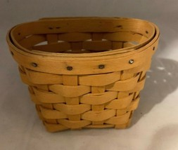 Longaberger 1999 Oregano Booking Basket with Wall Hanging Hardware - $18.69