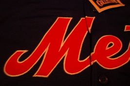 VINTAGE STYLE NEW YORK METS MLB BASEBALL STITCHED JERSEY SMALL NEW W/ TAG image 3