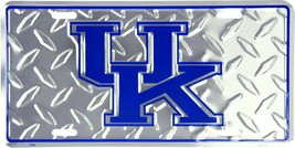 Kentucky Wildcats Embossed Diamond Metal Auto Tag License Plate Sign - $6.95