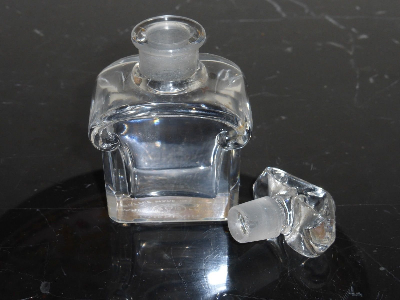 "Guerlain Baccarat Early 1900's Perfume Bottle 4"" tall"