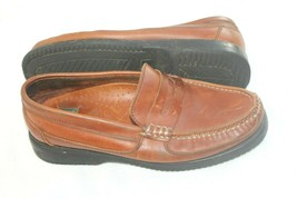 Nunn Bush Mens Size 8.5 Brown Leather Penny Loafers Used Shoes - $17.82