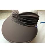 Wallaroo Aqua Visor Brown Women's Sun Hat One Size Adjustable NWTs - $28.04