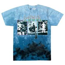 Genesis-Lamb Lies Down On Broadway-Large Blue Tie Dye  T-shirt - $22.24