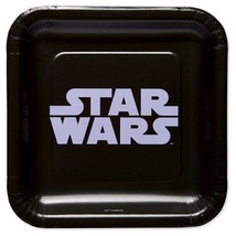 Star Wars Classic Black Lunch Plates 8 per Package Birthday Party Suppli... - $4.21