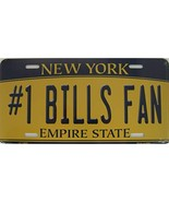 New York State Background Novelty Metal License Plate Tag (#1 Bills Fan) - $13.25