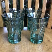 Fostoria Jamestown Green 10 Oz. Flat Tumblers Set Of Four - $44.55