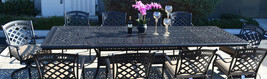 11 piece outdoor dining set cast aluminum powder coated 132 extension table. image 2