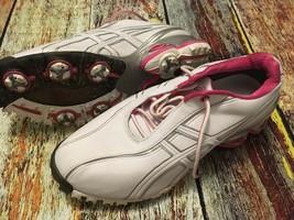 ASICS P068Y Women's Lady GEL-Ace Golf Shoes Size 11 US 43.5 EU White/Pink - £55.59 GBP