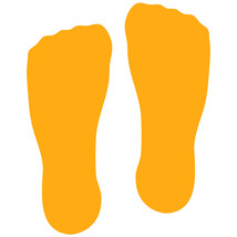 LiteMark Golden Yellow Sock Footprint Decal Stickers - Pack of 12 - $19.95