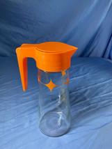 Vintage Atomic Starburst Orange Diamond Anchor Hocking Glass Tang Juice ... - $12.99
