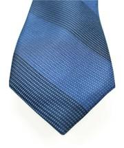 NEW MENS RYAN SEACREST DICTINCTION ZION BAR STRIPE BLUE 100% SILK NECK T... - $8.90