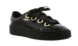 New Puma Kiss Black/Gold Women's Trainers Size 5 - $64.90