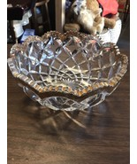 Glass Serving Bowl Letter H Imprinted On Bowl Party Kitchen Dining Room - $31.35