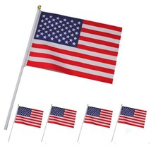 5 pcs American Flag Hand Wave Flags 14*21 CM 5.5*8.3'' US/USA National F... - $1.95
