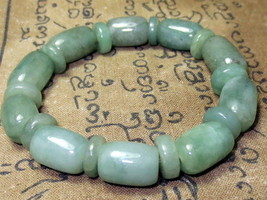 Very Rare! Magic Candle Green Jade Bracelet Top Charm Power Thai Buddha Amulets - $16.99