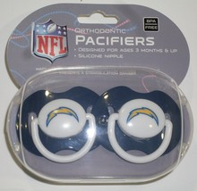 NFL NIB PACIFIER - SET OF 2 - SAN DIEGO CHARGERS - SOLID - W/CASE - €8,70 EUR