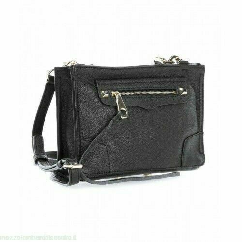 Primary image for Rebecca Minkoff Regan Black Leather Women's Messenger Bag HS16IPBX68