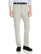 Perry Ellis Men's End On End Flat Front Alloy Gray Dress Pants - $29.99