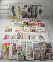 33 Pattern Lot Clothing Home Decor Decorations Costume Aprons More Vtg Modern  - $39.59