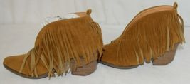 Beast Fashion Carrie 01 Camel Fringe Slip On Shoes Size Seven image 5