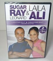 SUGAR RAY LEONARD & LAILA ALI: Lightweight & Heavyweight Workouts New DV... - $28.71
