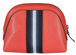 New Gucci Women's 339558 Coral Leather Web Stripe Mini Dome Cosmetic Mak... - $189.33
