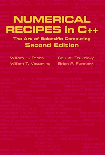 Numerical Recipes in C++: The Art of Scientific Computing Foundation Books