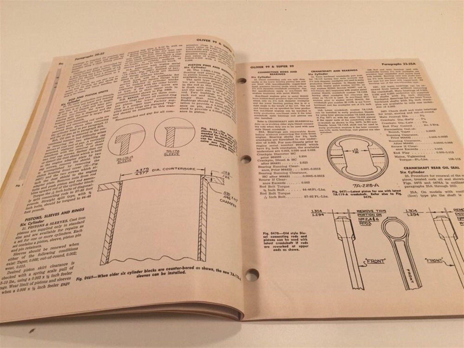 Vintage Implement & Tractor Shop Manual - Oliver  99 Super 99 Super 99GM