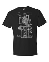 Pocket Camera T-Shirt Patent Art Gift Photo Photography Photographer Det... - $18.95+