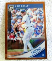 KRIS BRYANT 2018 PANINI OPTIC O BRONZE REFRACTOR CARD#149 PSA10?CHICAGO ... - $9.89