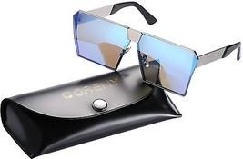 Sunglasses For Men Women Square Oversized Metal Frame Brand Designer (Silver As - $12.23