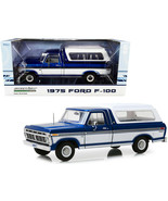 1975 Ford F-100 Ranger Pickup Truck with Deluxe Box Cover Midnight Blue ... - $118.79