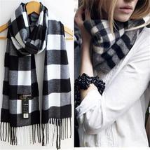 Winter / Autumn Women's Vintage Style Wool Blend Classic Geometric Pattern Scarf