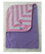 Just Born Baby Blanket Lets Play Ladybug Pink White Striped Purple Girl B88 - $44.99